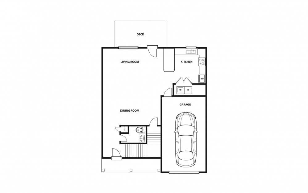 The Bailey - Purchase - 3 bedroom floorplan layout with 2.5 baths and 1966 square feet. (Floor 1)