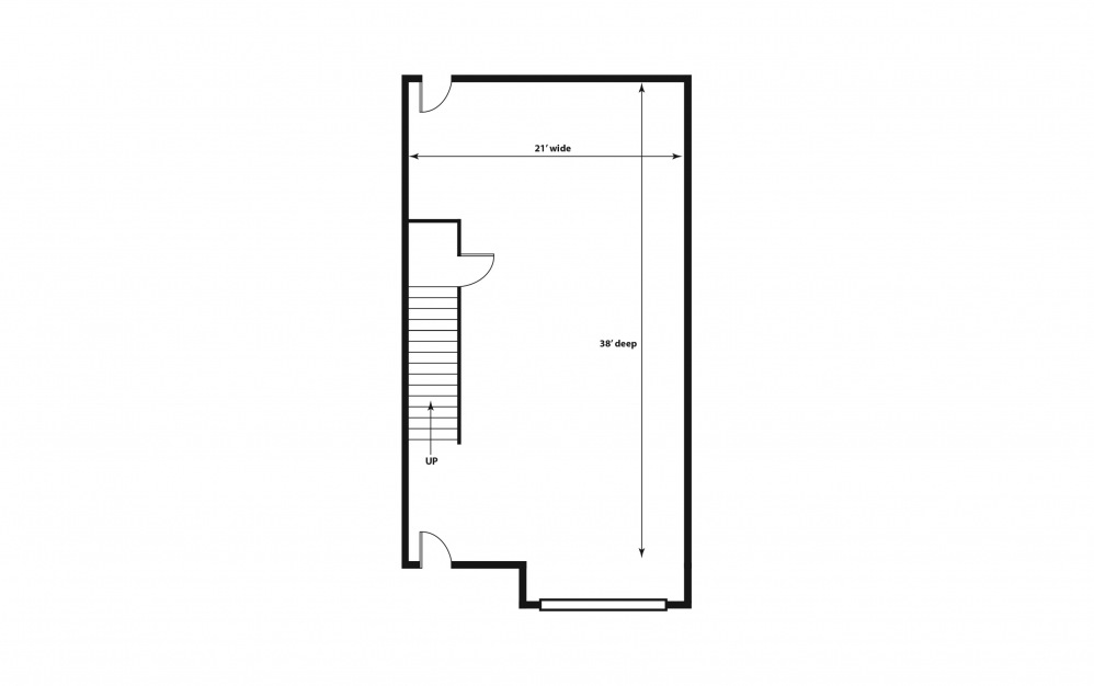 The Molly - Purchase - 3 bedroom floorplan layout with 2.5 baths and 1554 square feet. (Floor 1)